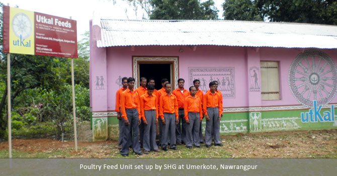 Poultry Feed Unit set up by SHG at Umerkote, Nawrangpur