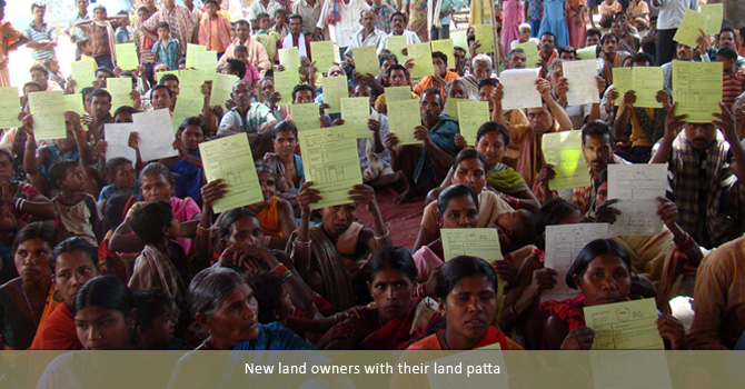 New land owners with their land patta
