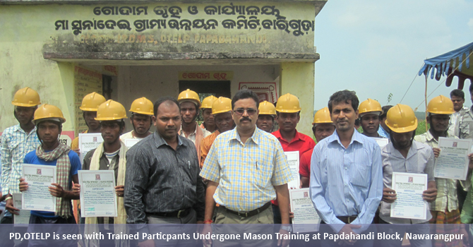 PD,OTELP is seen with trained particpants undergone Mason Training at Papdahandi Block, Nawarangpur