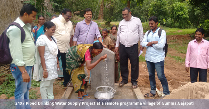 24X7 Piped Drinking Water Supply Project at a remote programme village of Gumma,Gajapati