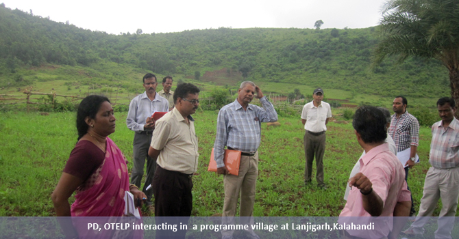 PD, OTELP interacting in  a programme village at Lanjigarh,Kalahandi