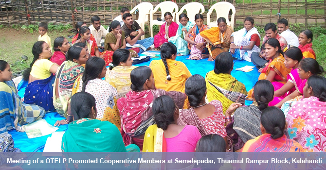 Meeting of a OTELP promoted Cooperative members at Semelepadar, Thuamul Rampur Block, Kalahandi