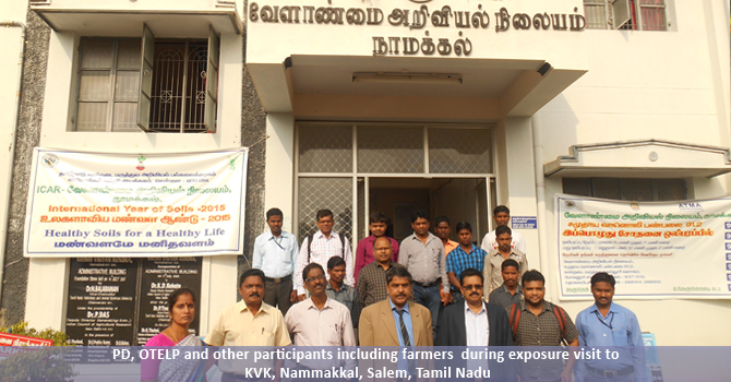 PD, OTELP and other participants including farmers  during exposure visit to KVK, Nammakkal, Salem, Tamil Nadu